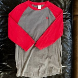 Abercrombie & Fitch Men's Small Gray & Red Raglan